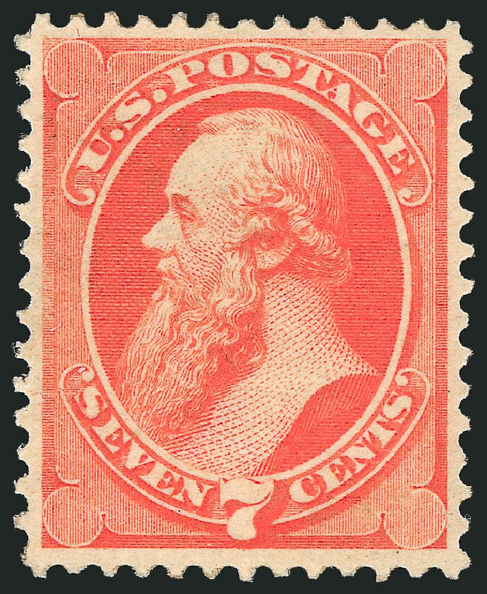 US Stamps Price Scott Catalogue # 149 - 1871 7c Stanton Without Grill. Robert Siegel Auction Galleries, Apr 2015, Sale 1096, Lot 282