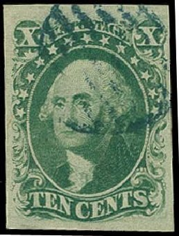 US Stamps Price Scott Catalog 15: 10c 1855 Washington. H.R. Harmer, Oct 2014, Sale 3006, Lot 1037