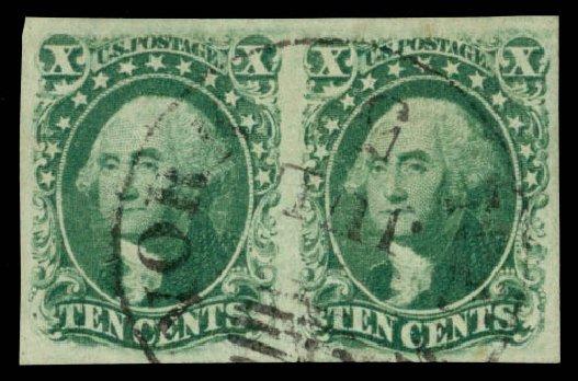 US Stamps Price Scott Catalogue 15 - 1855 10c Washington. Daniel Kelleher Auctions, Dec 2014, Sale 661, Lot 37