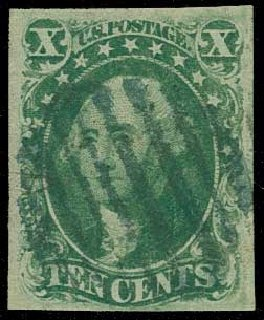 US Stamp Values Scott Catalogue 15: 10c 1855 Washington. H.R. Harmer, Jun 2015, Sale 3007, Lot 3108