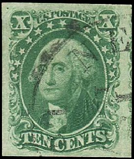 Values of US Stamps Scott # 15: 1855 10c Washington. Regency-Superior, Nov 2014, Sale 108, Lot 74