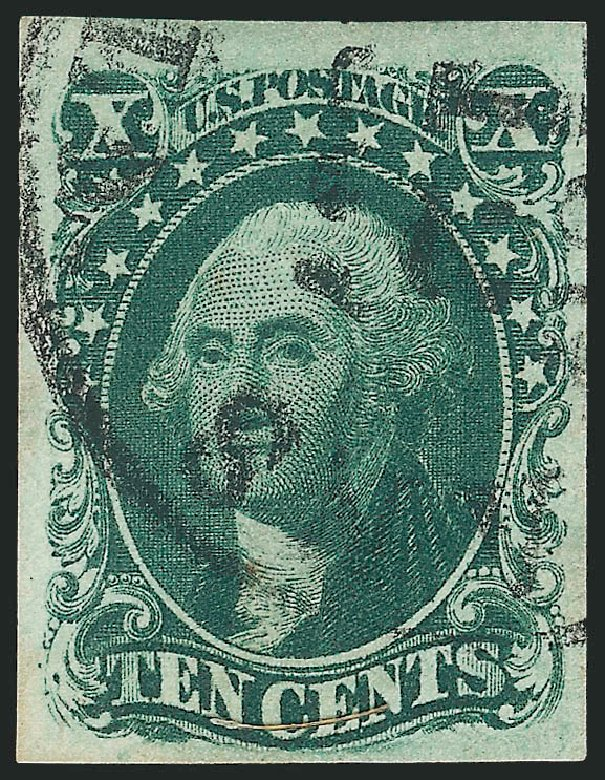 US Stamps Prices Scott Catalogue # 15 - 1855 10c Washington. Robert Siegel Auction Galleries, Dec 2014, Sale 1090, Lot 1142