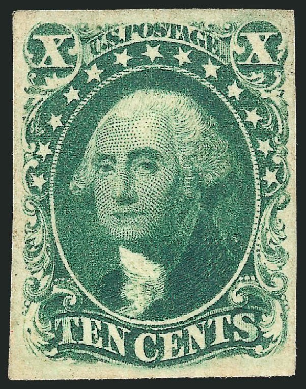 US Stamps Values Scott Catalogue #15: 1855 10c Washington. Robert Siegel Auction Galleries, Apr 2015, Sale 1096, Lot 32