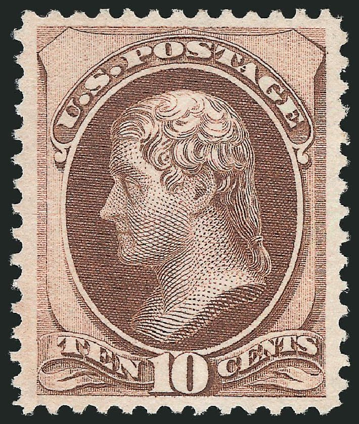 Prices of US Stamps Scott Cat. #150 - 10c 1870 Jefferson Without Grill. Robert Siegel Auction Galleries, Mar 2013, Sale 1040, Lot 1411