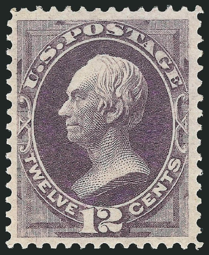 Values of US Stamps Scott Catalog 151: 1870 12c Clay Without Grill. Robert Siegel Auction Galleries, Dec 2014, Sale 1090, Lot 1318
