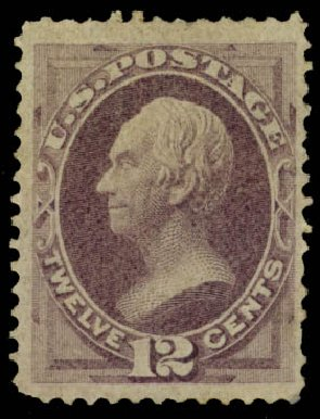 Costs of US Stamp Scott # 151: 12c 1870 Clay Without Grill. Daniel Kelleher Auctions, Jan 2015, Sale 663, Lot 1389