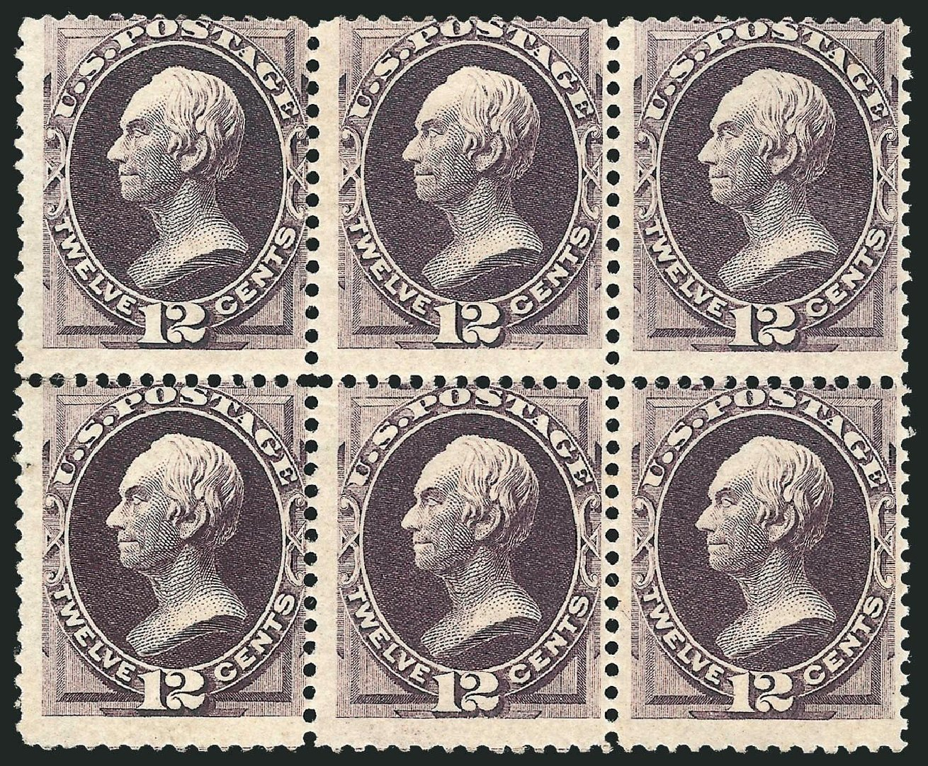 US Stamp Price Scott Cat. # 151 - 1870 12c Clay Without Grill. Robert Siegel Auction Galleries, Nov 2014, Sale 1084, Lot 3399