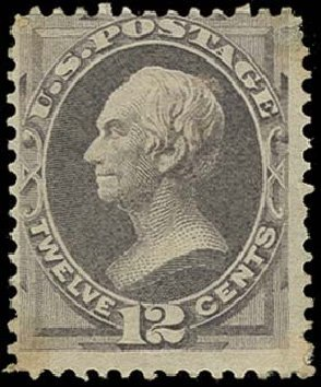 Costs of US Stamps Scott #151 - 12c 1870 Clay Without Grill. H.R. Harmer, Oct 2014, Sale 3006, Lot 1210