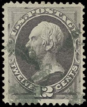 US Stamps Values Scott Catalog #151 - 1870 12c Clay Without Grill. H.R. Harmer, Oct 2014, Sale 3006, Lot 1211