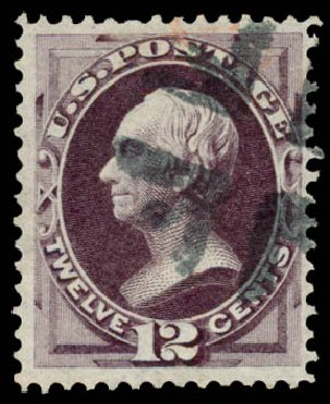 Prices of US Stamps Scott #151 - 1870 12c Clay Without Grill. Daniel Kelleher Auctions, Aug 2015, Sale 672, Lot 2415