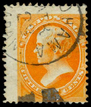 Costs of US Stamps Scott Catalogue #152 - 15c 1870 Webster Without Grill. Daniel Kelleher Auctions, May 2015, Sale 669, Lot 2637
