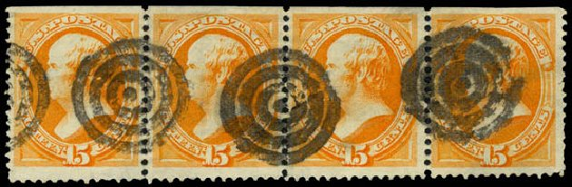 Cost of US Stamp Scott Catalogue # 152: 15c 1870 Webster Without Grill. Daniel Kelleher Auctions, May 2015, Sale 669, Lot 2638