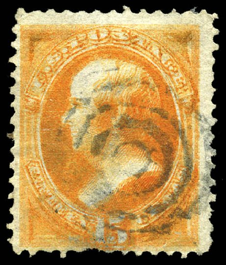 Cost of US Stamp Scott Cat. #152: 1870 15c Webster Without Grill. Matthew Bennett International, Feb 2015, Sale 351, Lot 121