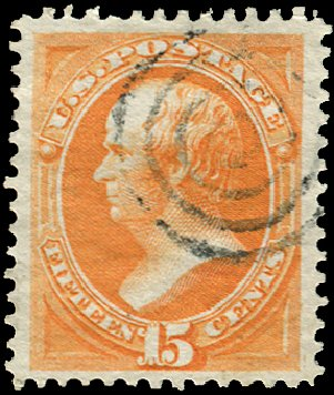 US Stamp Price Scott 152 - 1870 15c Webster Without Grill. Regency-Superior, Jan 2015, Sale 109, Lot 813