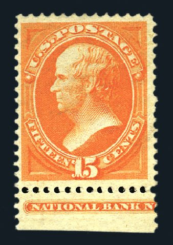 US Stamps Values Scott 152 - 1870 15c Webster Without Grill. Harmer-Schau Auction Galleries, Aug 2015, Sale 106, Lot 1506