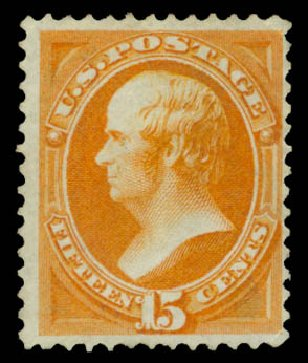 Values of US Stamp Scott 152: 1870 15c Webster Without Grill. Daniel Kelleher Auctions, May 2015, Sale 669, Lot 2636
