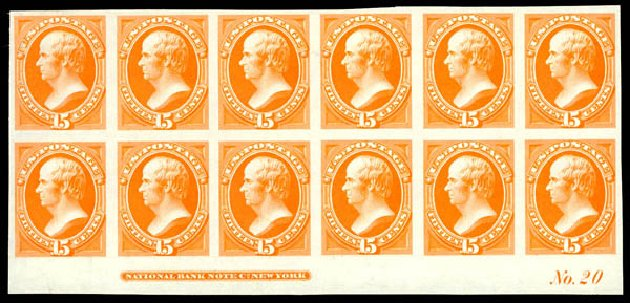 Prices of US Stamps Scott 152: 1870 15c Webster Without Grill. Daniel Kelleher Auctions, Aug 2015, Sale 672, Lot 2416