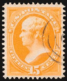 Prices of US Stamp Scott Cat. # 152 - 1870 15c Webster Without Grill. Schuyler J. Rumsey Philatelic Auctions, Apr 2015, Sale 60, Lot 2156