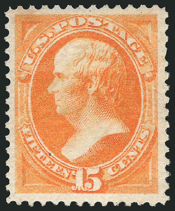 Price of US Stamp Scott Catalogue #152 - 1870 15c Webster Without Grill. Robert Siegel Auction Galleries, Apr 2015, Sale 1096, Lot 286
