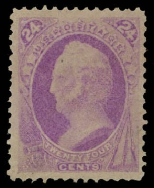 Prices of US Stamp Scott Catalogue #153: 1870 24c Winfield Scott Without Grill. Daniel Kelleher Auctions, May 2015, Sale 669, Lot 2639