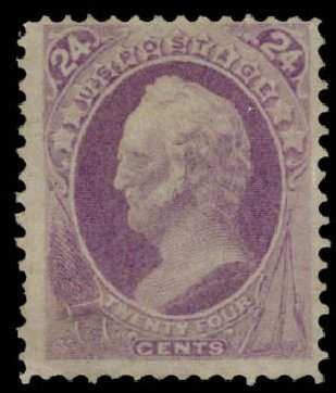 Cost of US Stamp Scott Cat. # 153: 1870 24c Winfield Scott Without Grill. Daniel Kelleher Auctions, May 2015, Sale 669, Lot 2640