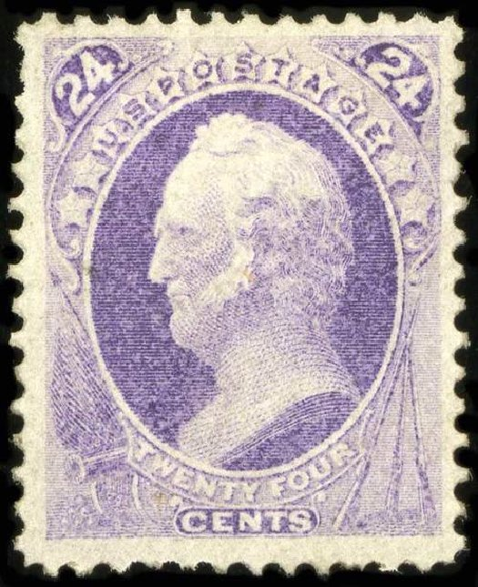 Prices of US Stamps Scott # 153 - 24c 1870 Winfield Scott Without Grill. Spink Shreves Galleries, Jul 2015, Sale 151, Lot 145