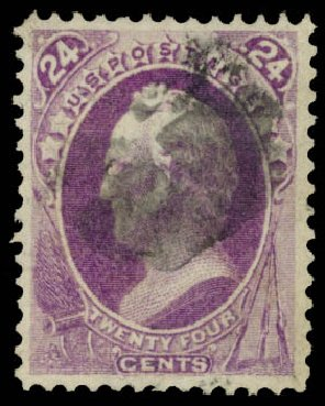Prices of US Stamps Scott Cat. #153: 24c 1870 Winfield Scott Without Grill. Daniel Kelleher Auctions, Aug 2015, Sale 672, Lot 2422