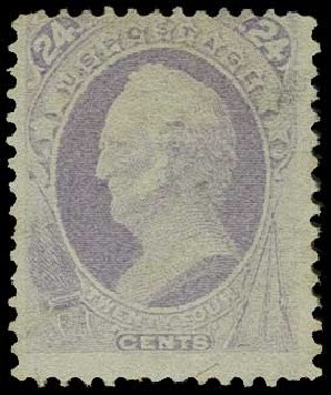 Values of US Stamps Scott Cat. # 153 - 1870 24c Winfield Scott Without Grill. H.R. Harmer, Jun 2015, Sale 3007, Lot 3213