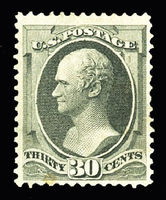 Values of US Stamp Scott Cat. #154 - 30c 1870 Hamilton Without Grill. Cherrystone Auctions, Jul 2015, Sale 201507, Lot 2067