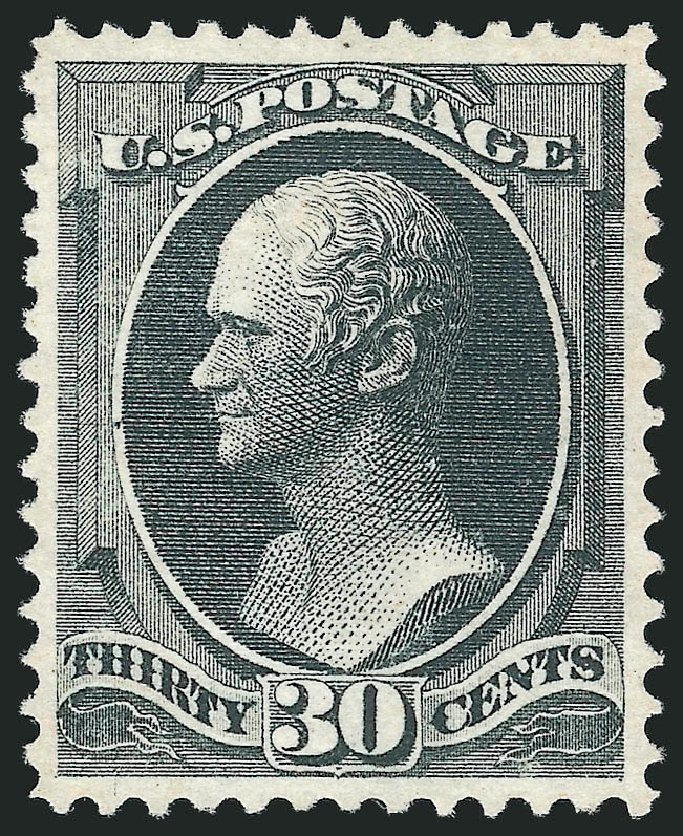 US Stamps Value Scott Catalogue # 154: 30c 1870 Hamilton Without Grill. Robert Siegel Auction Galleries, Apr 2015, Sale 1096, Lot 288