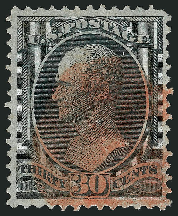 Value of US Stamps Scott Cat. #154 - 30c 1870 Hamilton Without Grill. Robert Siegel Auction Galleries, Apr 2015, Sale 1096, Lot 289