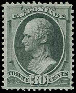 Price of US Stamp Scott #154: 1870 30c Hamilton Without Grill. H.R. Harmer, Jun 2015, Sale 3007, Lot 3214