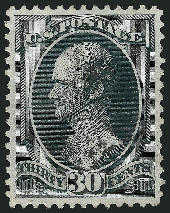 US Stamps Prices Scott Catalogue # 154 - 1870 30c Hamilton Without Grill. Robert Siegel Auction Galleries, Feb 2015, Sale 1092, Lot 1124
