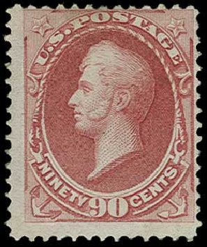 Price of US Stamp Scott Catalogue # 155 - 90c 1870 Perry Without Grill. H.R. Harmer, Jun 2015, Sale 3007, Lot 3217