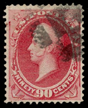 Cost of US Stamp Scott Cat. #155: 1870 90c Perry Without Grill. Daniel Kelleher Auctions, Aug 2015, Sale 672, Lot 2427