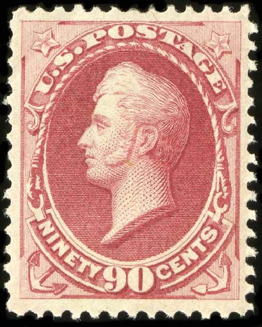 US Stamps Prices Scott Catalog # 155 - 90c 1870 Perry Without Grill. Spink Shreves Galleries, Jul 2015, Sale 151, Lot 147