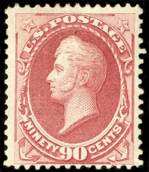 Prices of US Stamps Scott #155 - 1870 90c Perry Without Grill. Spink Shreves Galleries, Jul 2015, Sale 151, Lot 148