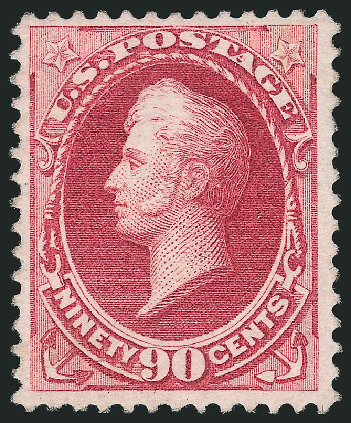 US Stamps Prices Scott Cat. #155: 90c 1870 Perry Without Grill. Robert Siegel Auction Galleries, Apr 2015, Sale 1096, Lot 290