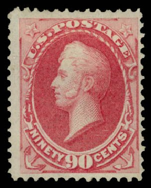 US Stamps Value Scott # 155: 1870 90c Perry Without Grill. Daniel Kelleher Auctions, May 2015, Sale 669, Lot 2644