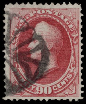 US Stamps Price Scott # 155 - 90c 1870 Perry Without Grill. Daniel Kelleher Auctions, May 2015, Sale 669, Lot 2645