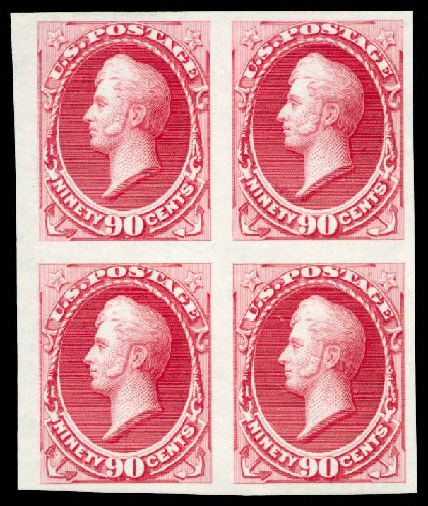 Price of US Stamps Scott Catalogue # 155: 1870 90c Perry Without Grill. Daniel Kelleher Auctions, Aug 2015, Sale 672, Lot 2425