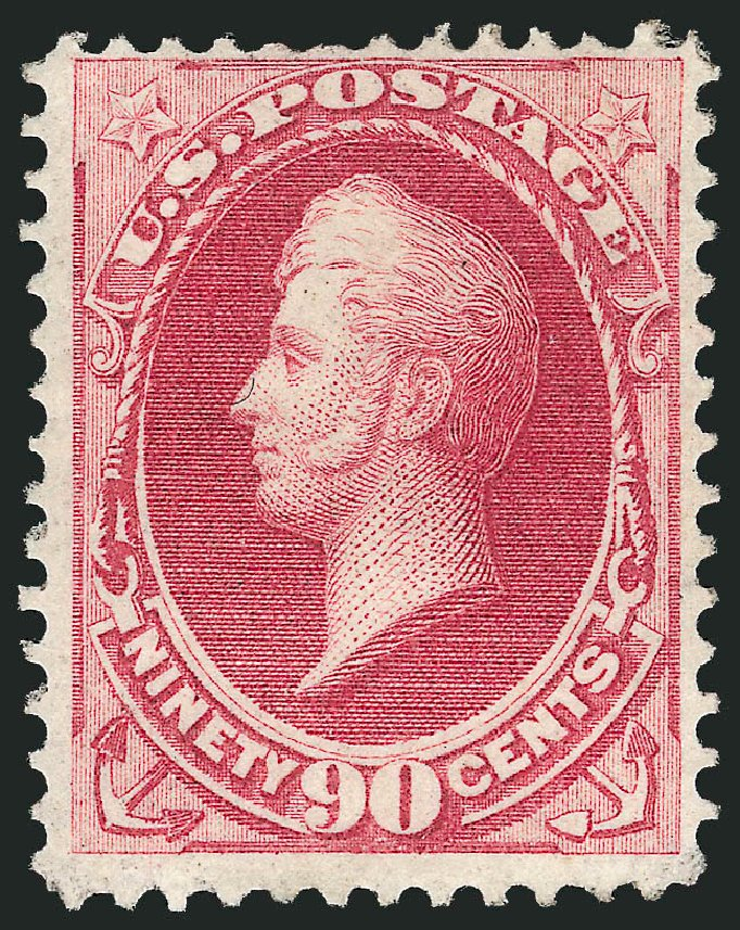 US Stamps Values Scott #155 - 1870 90c Perry Without Grill. Robert Siegel Auction Galleries, Feb 2015, Sale 1092, Lot 1125