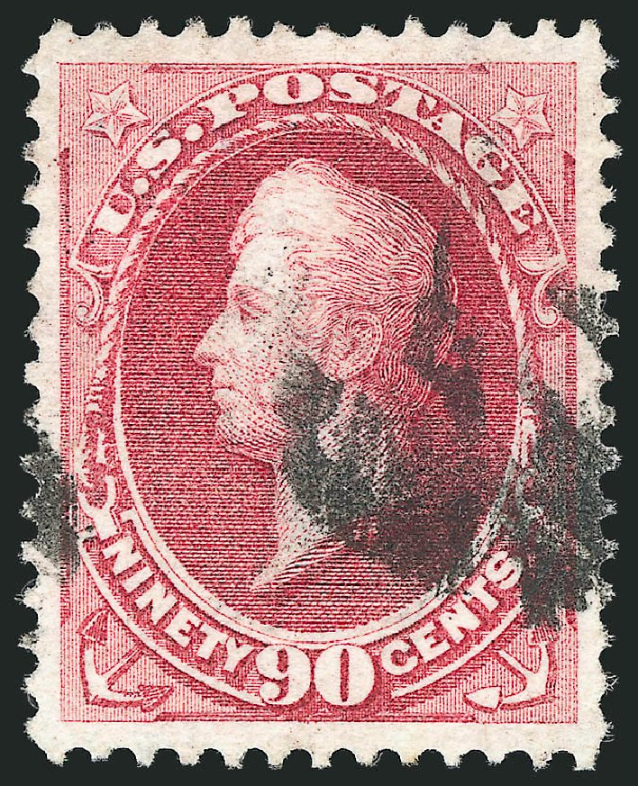 Cost of US Stamps Scott Catalog 155 - 1870 90c Perry Without Grill. Robert Siegel Auction Galleries, Apr 2015, Sale 1096, Lot 292