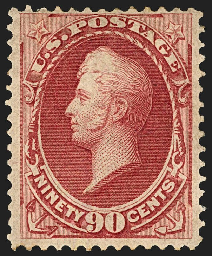Value of US Stamp Scott Catalog #155: 1870 90c Perry Without Grill. Robert Siegel Auction Galleries, Jul 2015, Sale 1107, Lot 273