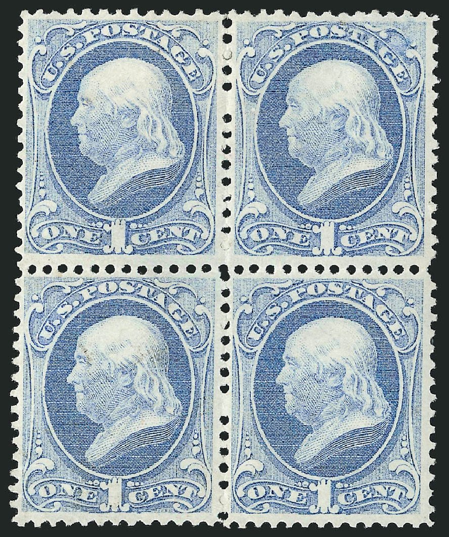 Value of US Stamps Scott Cat. #156: 1c 1873 Franklin Continental. Robert Siegel Auction Galleries, Apr 2015, Sale 1096, Lot 297