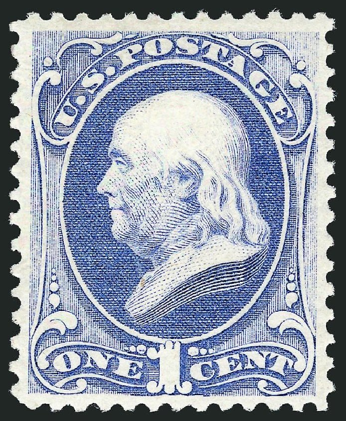 Us Stamps Values Scott Catalogue 156 1c 1873 Franklin Continental