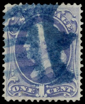 US Stamps Value Scott #156: 1873 1c Franklin Continental. Daniel Kelleher Auctions, May 2015, Sale 669, Lot 2649