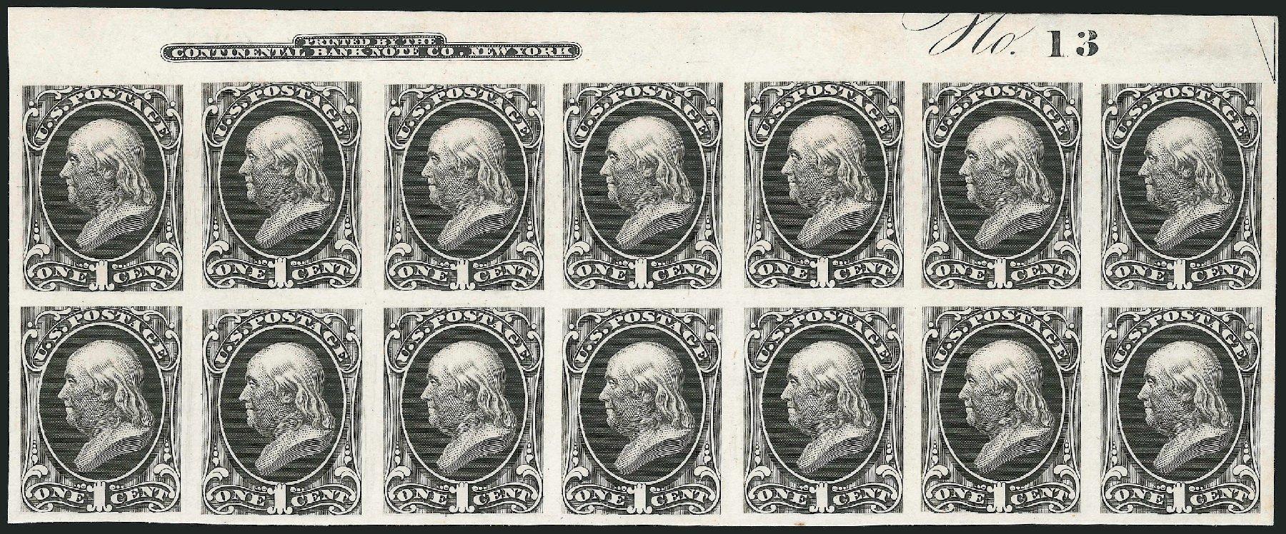 Prices of US Stamps Scott Catalogue #156: 1873 1c Franklin Continental. Robert Siegel Auction Galleries, Apr 2015, Sale 1096, Lot 295