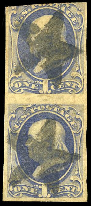 Prices of US Stamp Scott Catalogue 156: 1873 1c Franklin Continental. Matthew Bennett International, Feb 2015, Sale 351, Lot 122