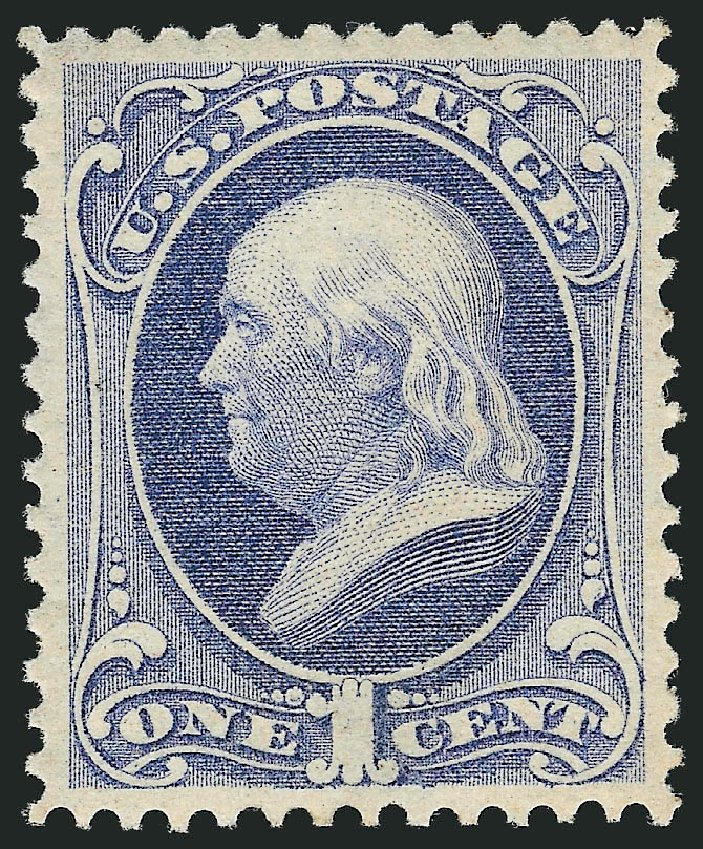 Prices of US Stamp Scott #156 - 1873 1c Franklin Continental. Robert Siegel Auction Galleries, Feb 2015, Sale 1092, Lot 1126